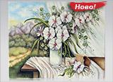 Бели орхидеи
